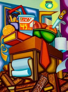 As Above So Below - Cubist, Surreal Still Life with Bold Colors
