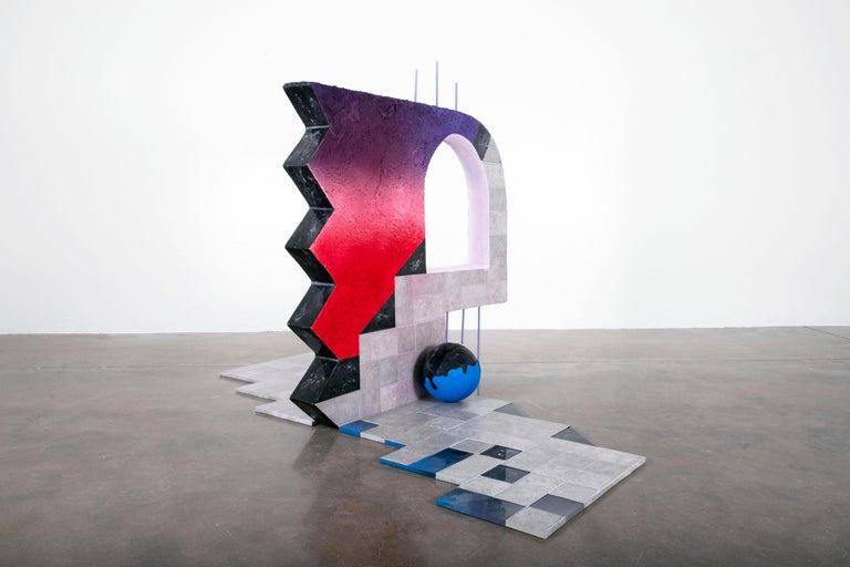 Castle Fabricks - Surrealist Cubist Installation Sculpture, Mystical Dreamscape For Sale 1