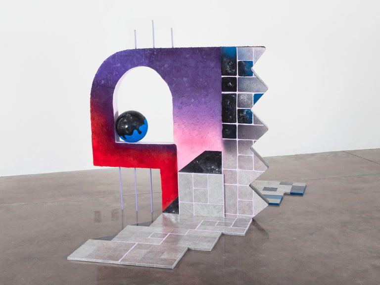 Castle Fabricks - Surrealist Cubist Installation Sculpture, Mystical Dreamscape For Sale 2