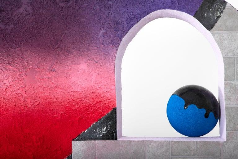 Castle Fabricks - Surrealist Cubist Installation Sculpture, Mystical Dreamscape For Sale 3