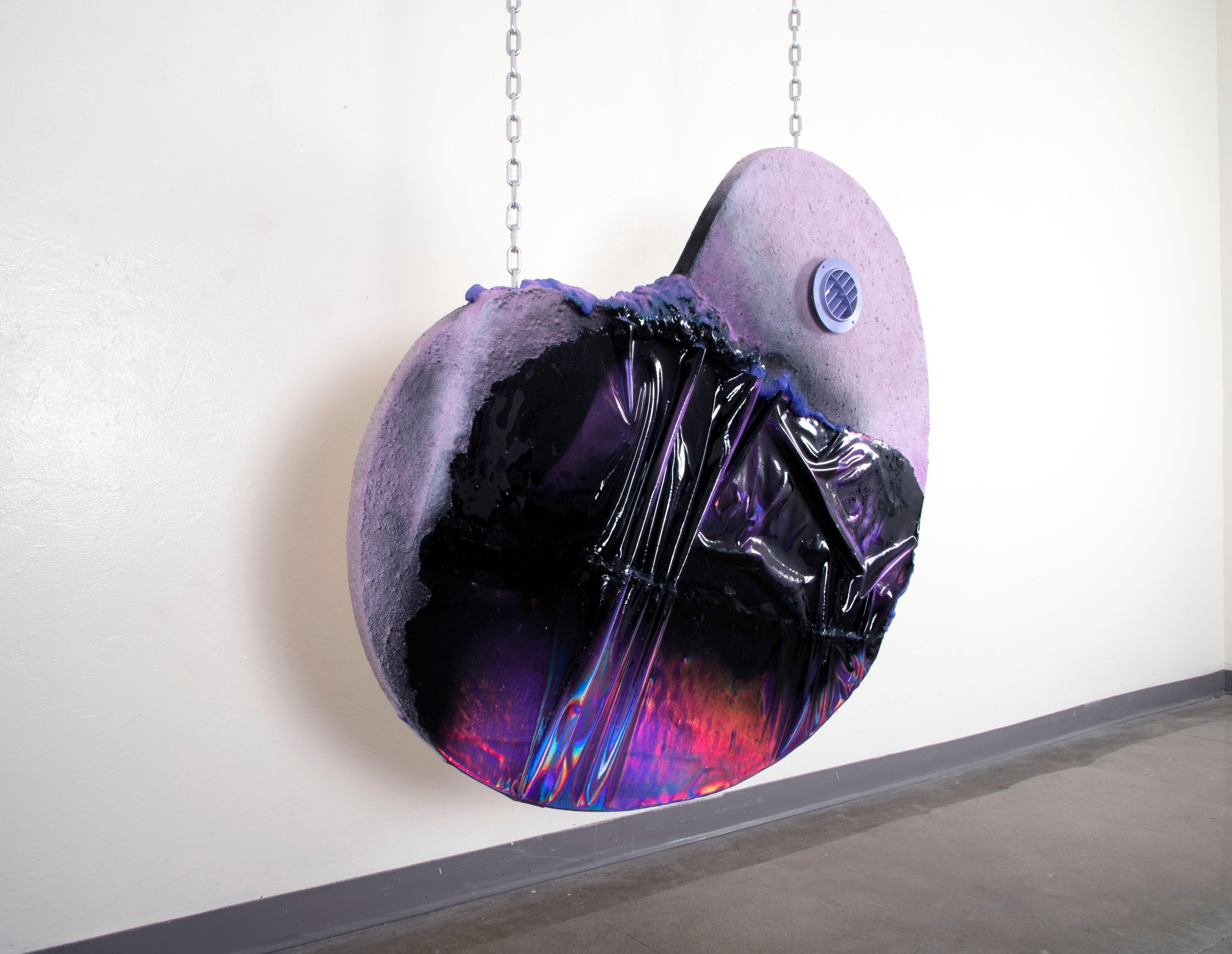Polly's Pocket Slime - Hanging Sculpture, Purple, Black