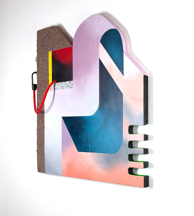 Sneaking Out - Sculptural Painting, Surrealist House, Abstract - Contemporary Sculpture by Kenzie Wells