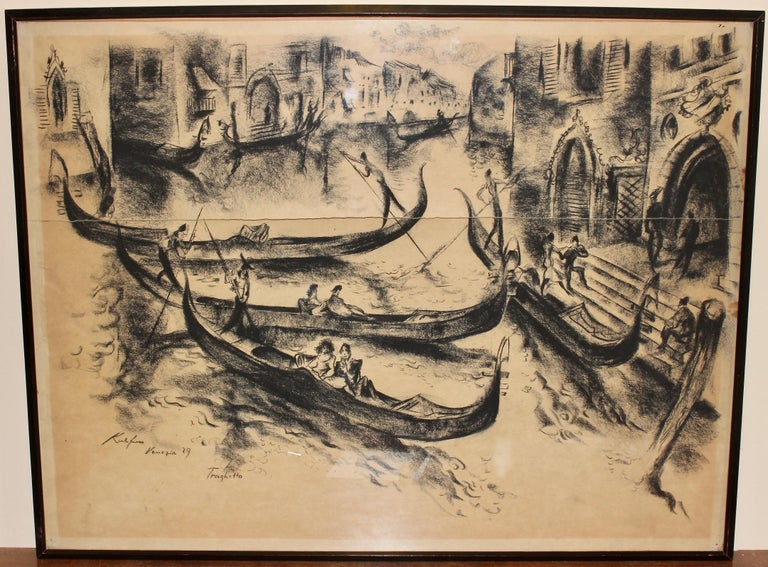 Painting, 20th century, charcoal drawing