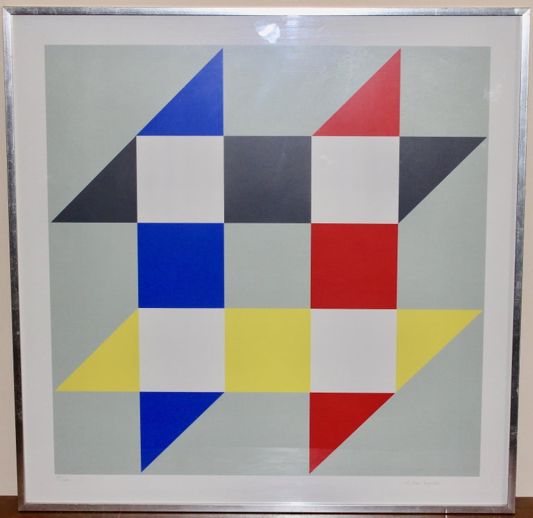 Anton Stankowski, Lithograph, serigraph, signed and numb. Geometric Composition For Sale 1