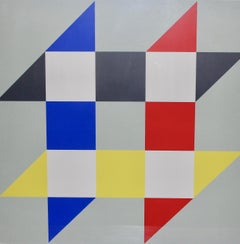 Anton Stankowski, Lithograph, serigraph, signed and numb. Geometric Composition