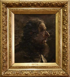 """Antique oil Painting by """"Jordan"""". Oil on Canvas. Portrait of an old Gentleman."""