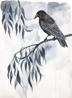 Singing In The Rain by Sally Browne. Watercolour on Paper.