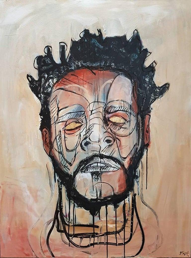Sam Patterson-Smith Portrait Painting - Portrait of J.Cole