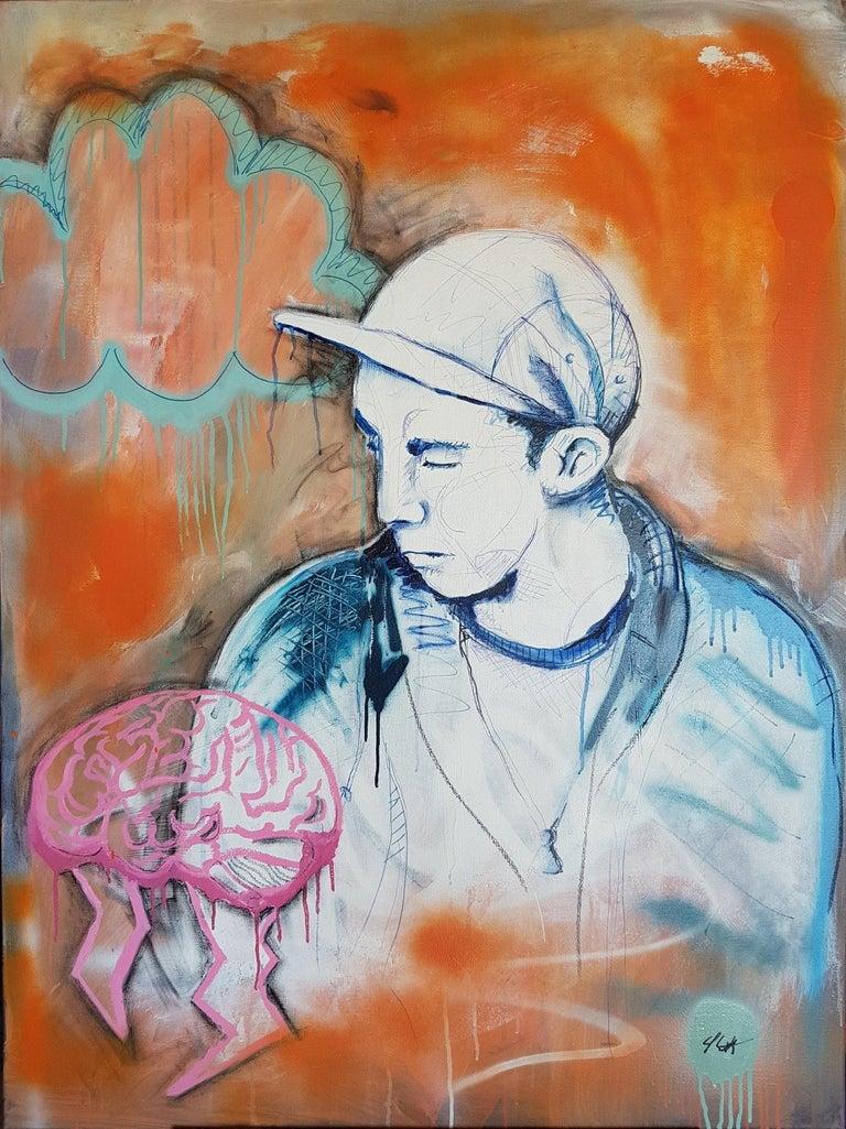 Sam Patterson-Smith Portrait Painting - Portrait of a Thundamentalist