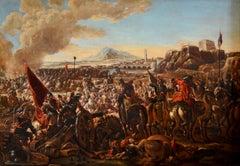 Battle Oil on canvas Paint Italy Horses Baroque XVIIth Century