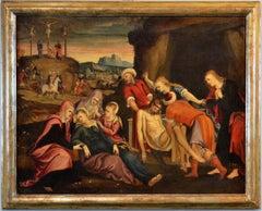 The Deposition Paint Oil on canvas Venezia 16th Century Art Italy