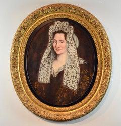 Portrait Lady Paint Oil on canvas Baroque France Art 17th Century