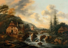 Landscape Paint Oil on canvas Baroque Art 17th Century Holland