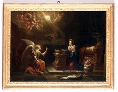 The Annunciation 17th Century paint Oil on canvas Italy Art Baroque Manierism
