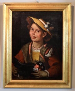 Portrait Young Peasant Woman Paint Oil on canvas 18th Century Italy Art Baroque