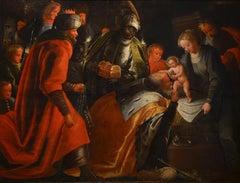 Adoration Paint Oil on table 16th century Art Baroque Manierism