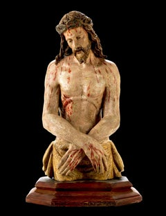 Ecce Homo Flemish Renaissance 16th Century Sculpture Quality Italy Michelangelo
