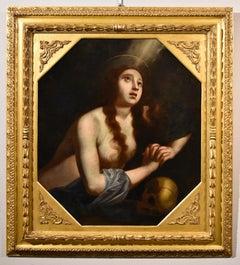 Ficherelli Paint Oli on canvas old master 17th Century Religious Mary Magdalene
