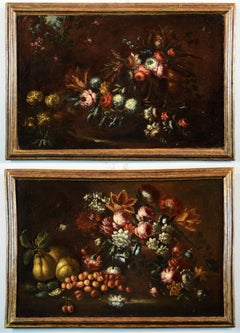 Still Life Flower Paint Oil on canvas Italy 17th century Art Nature Luxury
