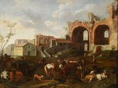 Van Bloemen Rome Field Natur 17th Century Oil on canvas Paint Flandre Holland