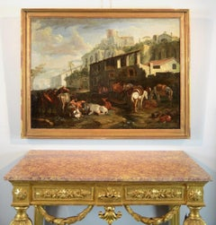 Rome 17th century Oil on canvad Paint Art Quality Italy Flande Holland Field