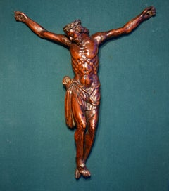 Christ Crucified Wood Flemish-german Sculptor 16th Century Sculpture Old Master