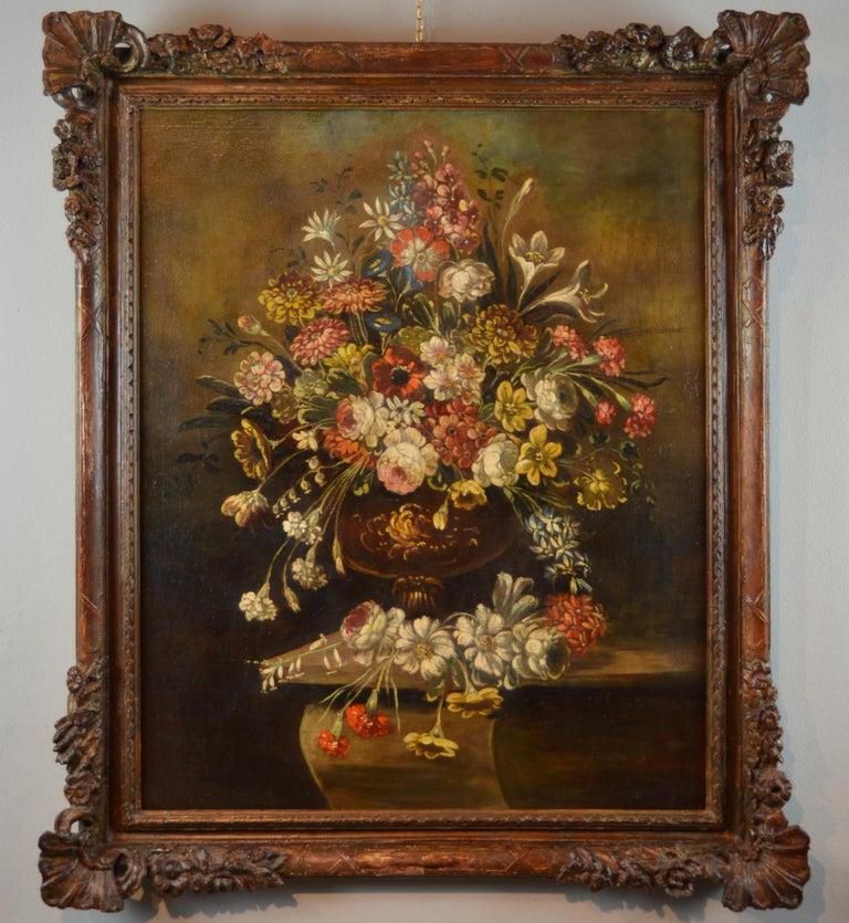 Still Life Italian School 19th Century Paint Oil on canvas Italy Art Quality For Sale 1