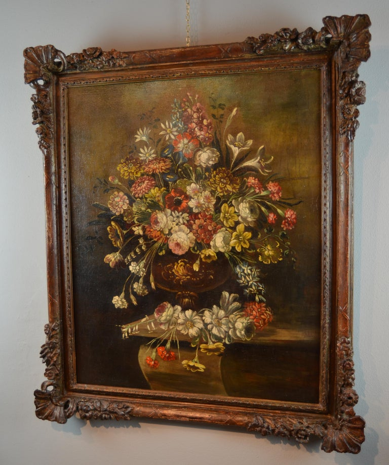 Still Life Italian School 19th Century Paint Oil on canvas Italy Art Quality For Sale 2