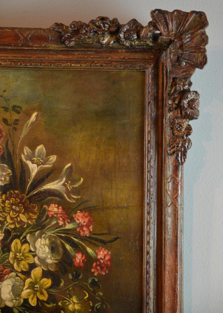 Still Life Italian School 19th Century Paint Oil on canvas Italy Art Quality For Sale 3