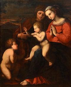 The Virgin Paint Oil on canvas Roma Italy Raphael Roman Painter 17th Century