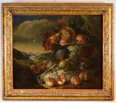 Paint Oil on canvas Art Brueghel Still Life Fruits Landscape Italy Flandre