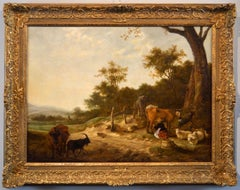 Landscape Flamish Paint Oil on canvas Baroque Italy 17th Century Quality Rococo