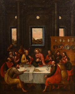 The Last Supper Paint Oil on canvas 17th Century Tuscany School Florence