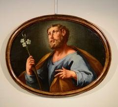 Saint Joseph Paint Oil on canvas De Mura Italy Baroque Art Quality 18th Century