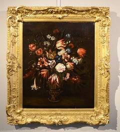 Still Life Flowers Paint Oil on canvas Italy Art Baroque Quality Naples Italy