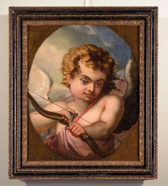 Cupid Paint Oil on canvas France Neo classicism Art Quality Love 18th century