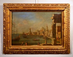 Port See Paint Oil on canvas Italy 18th Century Art Baroque Venezia Quality
