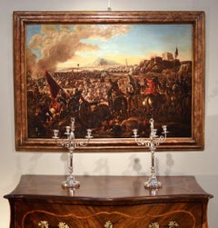 Battle Old Master Painting 17th Century Oil on canvas Italy Baroque Art Quality