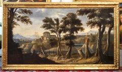 Landscape Ruins Paint Oil on canvas Baroque De Heusch Art Flamish 17th Century