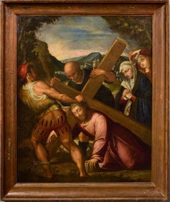 Christ Mannerist Oil on canvas Paint 17th Century Art Italy Cross Campi