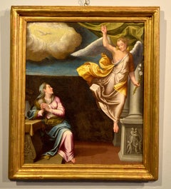 Annunciation Paint Oil on canvas Tuscany Italy Florence 17/18th Century Manneris