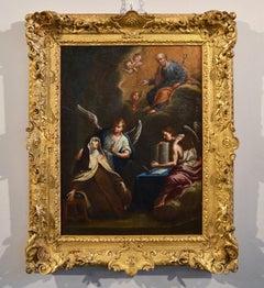 Saint Theresa 17th Century Roman School religious Oil on canvas Paint Old master