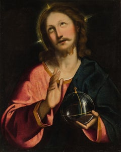 Christ Salvator Mundi Paint Oil on canvas 16th Century Old master Religious Art