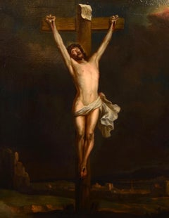 Crucifixion Paint Oil on canvas Italy Art Quality Flemish 17th  CenturyVan Dyck