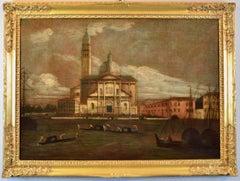 View Landscape Paint Oil on canvas Marina Canaletto Venice San Giorgio Tironi