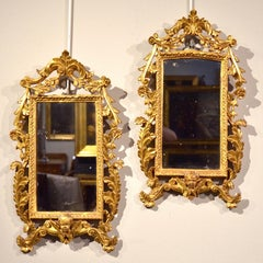 Glass Mirrors Gold Wood Italy Rome 18th Century Art