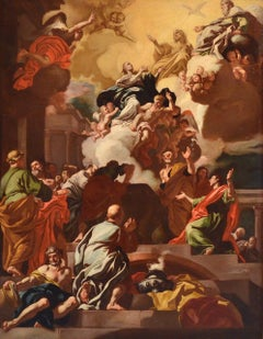 Assumption Virgin Paint Oil on canvas 17/18th Century Italy Art Religious
