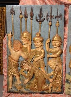 Paint Gold Italy Germany Donatello Jesus Calvary Sculpture 15/16th Century Art