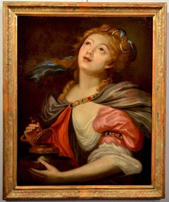 Queen Artemisia Paint Oil on canvas 17th Century Italy Flamish Quality Kingdom