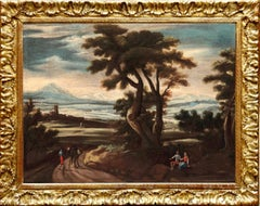 17th Century Venetian Italy Paint Oil on Canvas Water Tintoretto Landscape